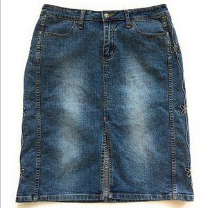 Bubblegum denim skirt, Sz 11/12, blue